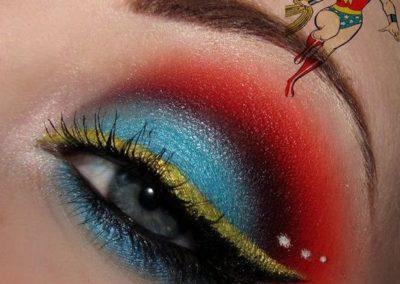 Idée maquillage Wonder Woman coloré - 7