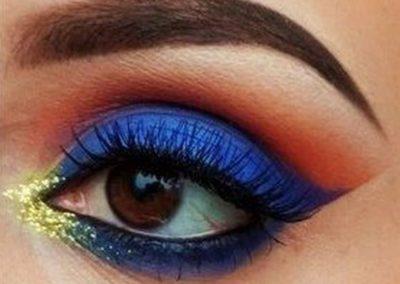 Idée maquillage Wonder Woman coloré - 9