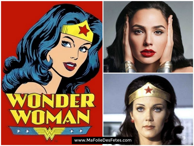 Wonder Woman Linda Carter Gal Gadot - Ma Folie Des Fetes