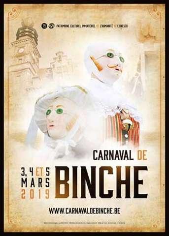 Carnaval Binche 2019 - Affiche - Ma Folie Des Fêtes