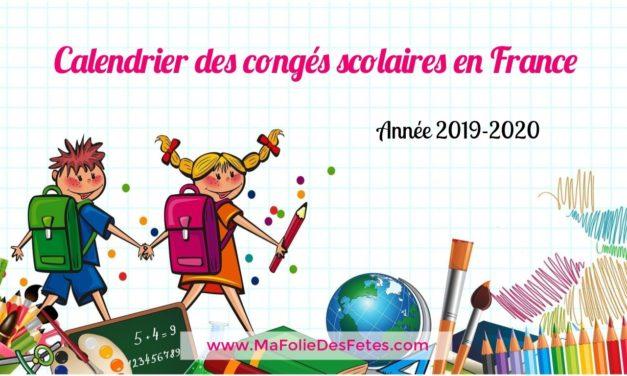 ★ Agenda 2019-2020 : Vacances scolaires en France ★