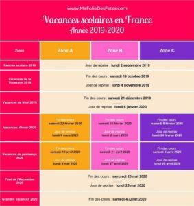 Vacances scolaires en France 2019 2020 - Ma Folie Des Fetes