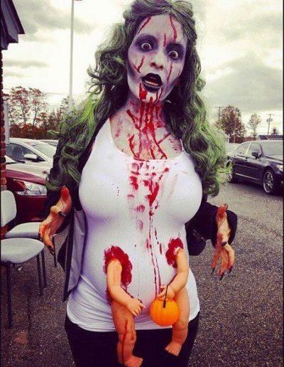 Idee Deguisement femme enceinte zombie - Ma Folie Des Fetes