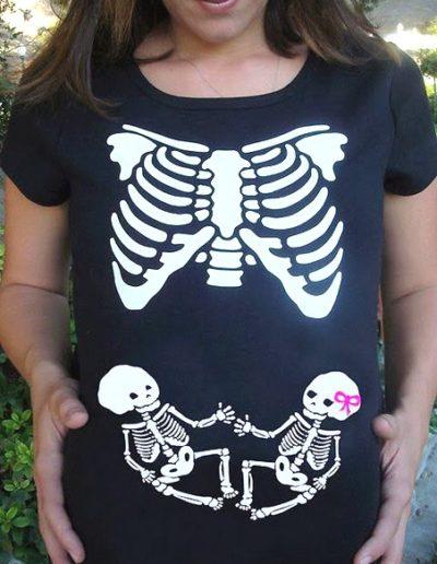 Idee Deguisement Femme enceinte Halloween Squelette 2 - Ma Folie Des Fetes