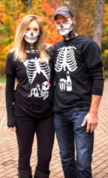 Idee Deguisement Femme enceinte Halloween Squelette 4 - Ma Folie Des Fetes