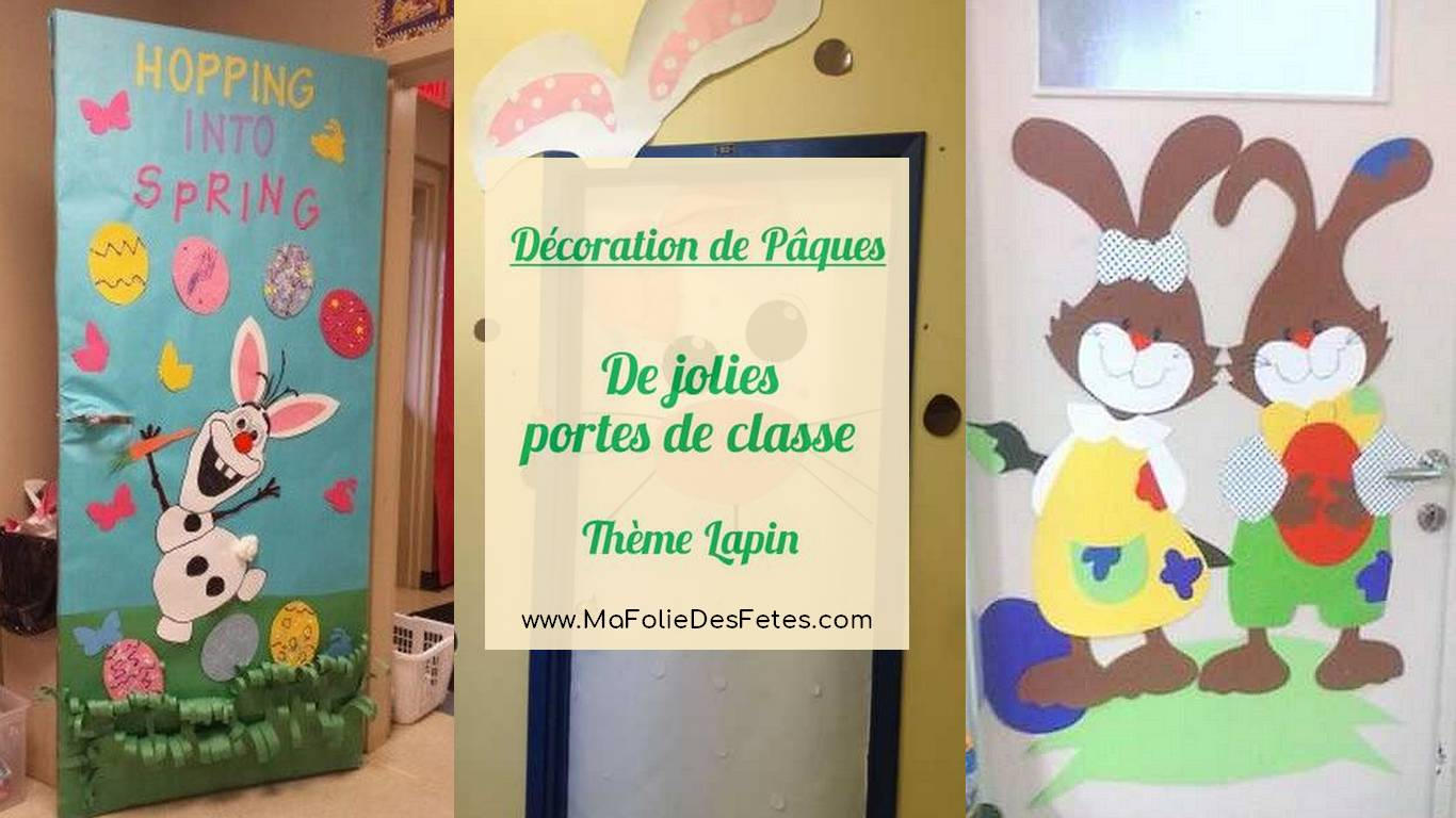 Paques-decoration-de-porte-de-classe-lapin-photo article-Ma-Folie-Des-Fêtes