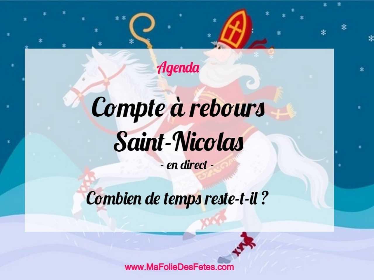 Compte a rebours Saint-Nicolas - Ma Folie Des Fêtes