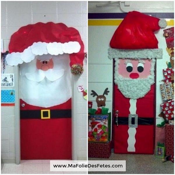 Décoration Portes de classe Père Noël bonnet lumineux - Ma Folie Des Fetes