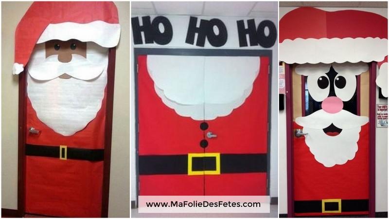 Idees Portes de classe Pere Noel entier 1 - Ma Folie Des Fetes