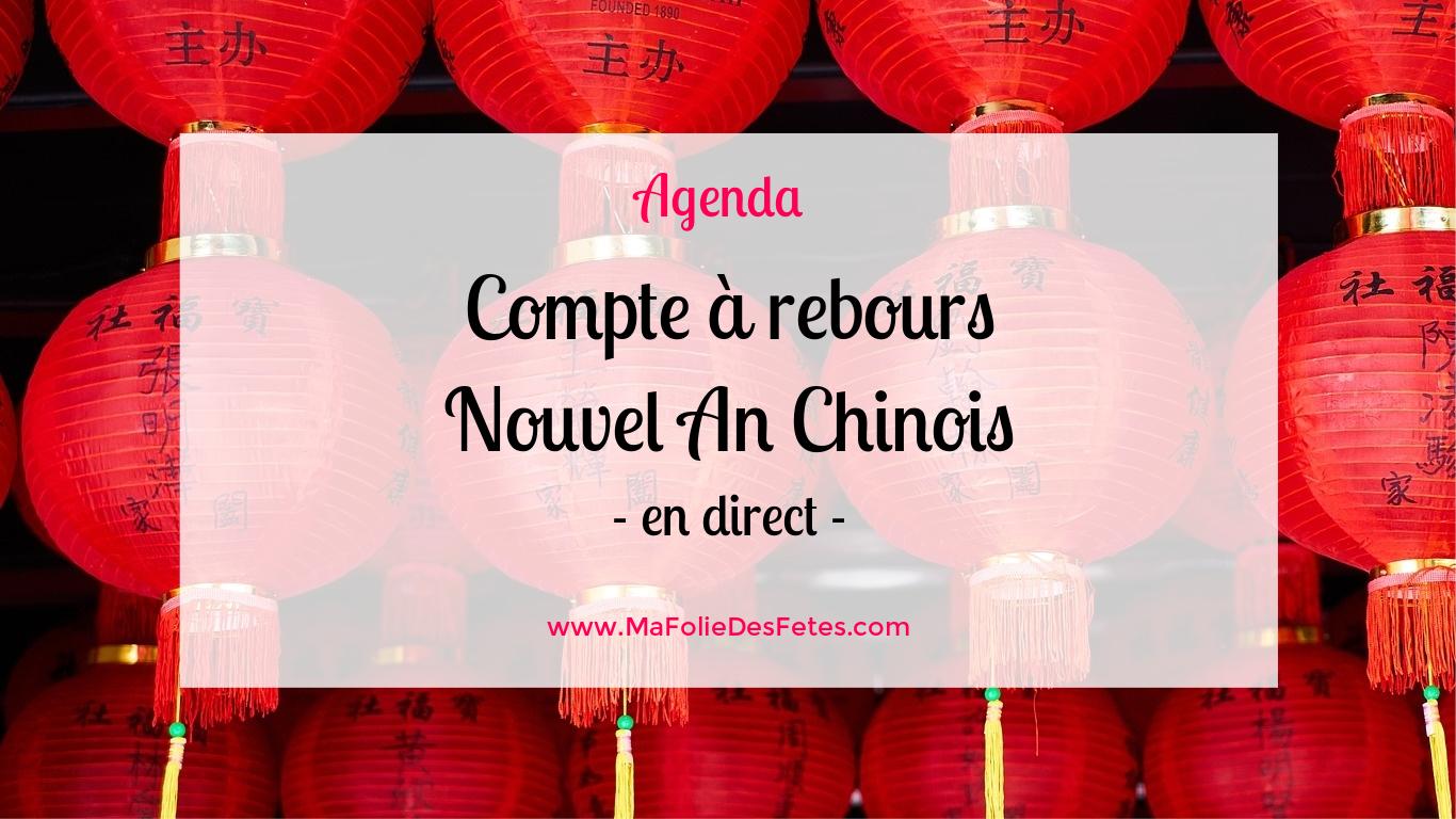 Compte à rebours Nouvel an chinois - Ma Folie Des Fetes